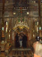 Jérusalem : entrée du tombeau du Christ