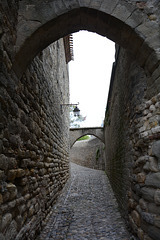 Narrow Street in the Castle of Carcassonne