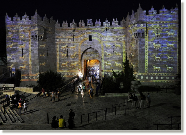 Damascus Gate with lions
