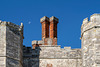Titchfield Abbey - chimneys and the moon