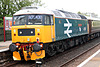 Locomotive Services class 47 47593 GALLOWAY PRINCESS at Kirkby Stephen on rear of 1Z40 09.02 Crewe - Appleby Settle & Carlisle Circular 22th May 2021.