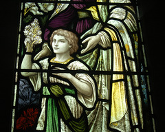 Detail of Stained Glass Window, St Peter's Church, Falstone, Northumberland