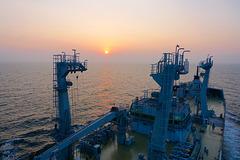RFA TIDERACE conducting sea trials off Okpo