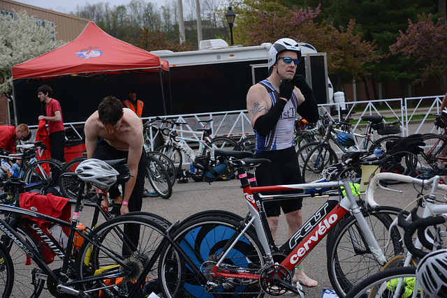 Dry off, mount, and head out -- leg two of the triathlon