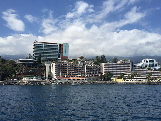 Hotel skyline of Funchal