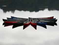 Lake Vyrnwy canoes