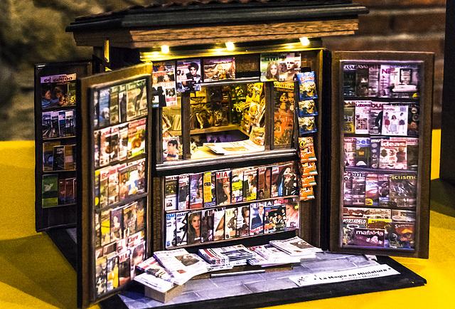 Kiosko de prensa en miniatura