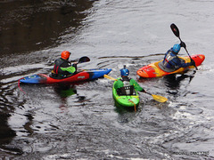 Kayakers on the Findhorn at Dulsie