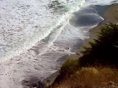 Beach from a cliff