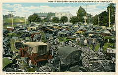 Rosey's Auto Graveyard, Lincoln Highway, Vintage, Pennsylvania, 1919