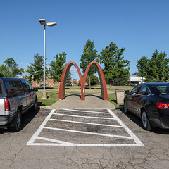 Golden arches entryway.