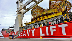 General Cargo and Heavy Lift Ship HHL Lagos. Docked in North Shields