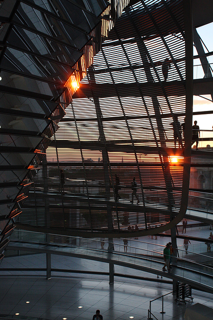 Sunset behind the Reichstag cupola