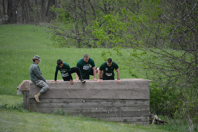 """More picturesque was the """"mud run"""" and its obstacle course"""