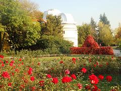 Astronomia observatorio kun rozĝardeno en Prago (monteto Petřín)