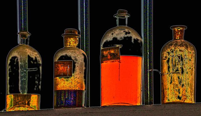 Flacons de matières premières pour l'empire d'essence