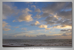 The sky over Seaford Bay - 2.3.2016