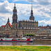 Blick zur Katholischen Hofkirche, Dresden