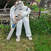 Next man in? Another local cricketing scarecrow.
