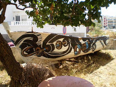 Boat painted by Pantónio.