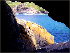 H. A. N. W. E. everyone! Rock window, Porthmeor Cove, Zennor