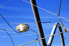 pipe, wires, lamp & sky