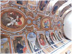 journées du patrimoine à Dinan (22): Fresque du réfectoire de l'ancien couvent des Bénédictines