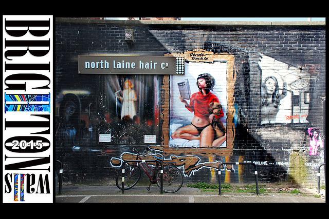 North Laine Hair Co - Brighton Walls - 31.3.2015