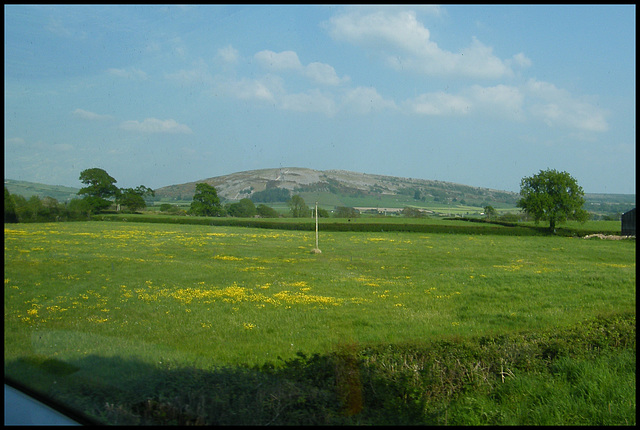 Warton Crag across the fields