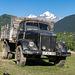 russian truck with gorgian pig