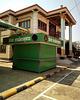 Kiosque et bâtiment (Laos)