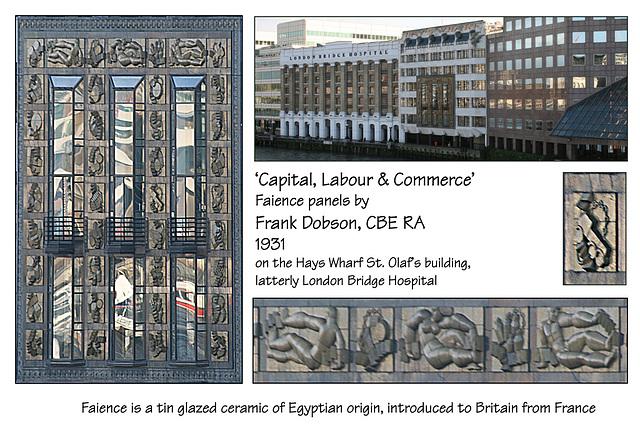 Hays Wharf faience panels