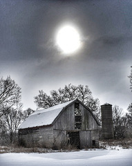 the winter barn...