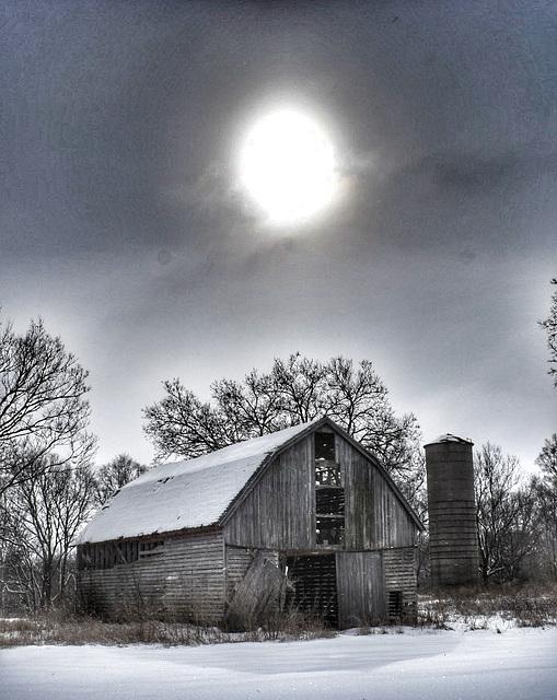 the winter barn...