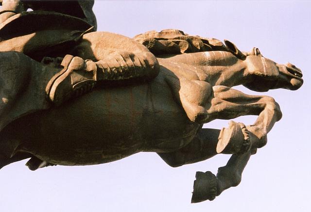 Cossack horseman's muscles
