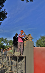 Work at the Little Wall of China