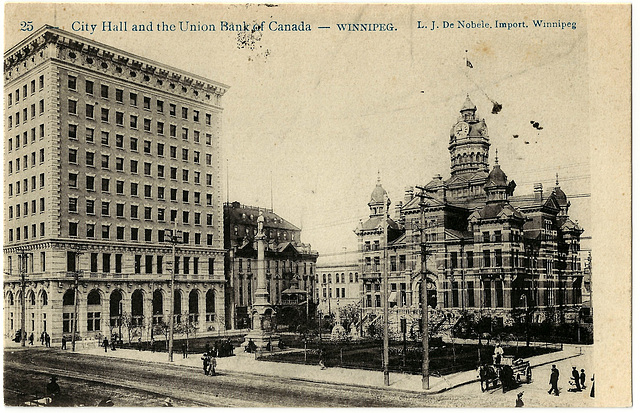 WP1972 WPG - CITY HALL AND THE UNION BANK OF CANADA