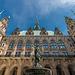 Court of Hamburg's City Hall With Hygieia Fountain - Rathaushof mit Hygieia Brunnen (060°)