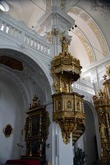 Kanzel der Klosterkirche Disentis