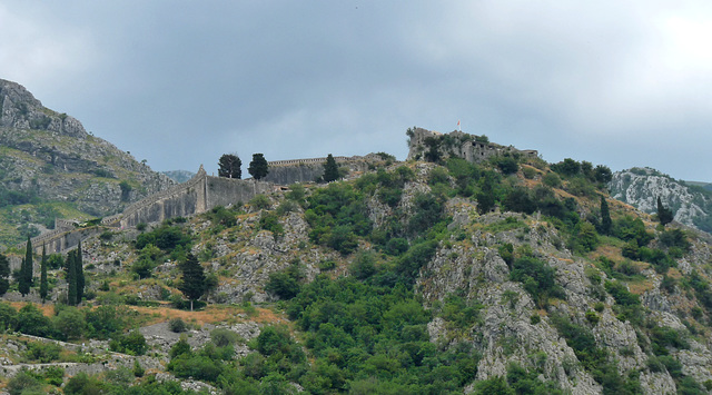 Kotor- Rugged Scenery and Old Defensive Wall