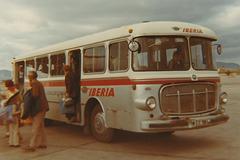 Palma de Mallorca airport transfer bus - Nov 1970