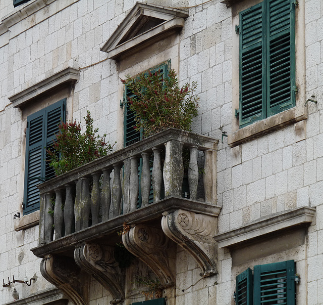 Kotor- Stone Balcony