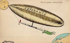 BK - Esperanta flugŝipo - eldonis Internacia Poŝta Unuiĝo en 1910