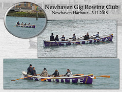 Newhaven Gig Rowing Club's gig 'Tribute' - Newhaven - 3.11.2018
