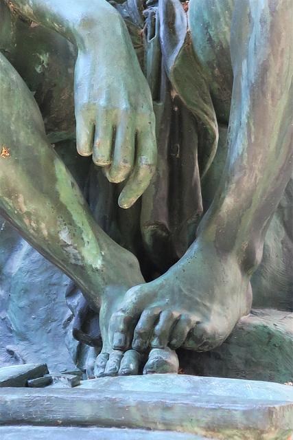 Chactas méditant sur le corps d'Atala (détail) (1835), Jardin du Musée des Beaux-arts, Lyon (France)