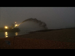 Dredger off Hayling Beach