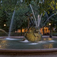 Springbrunnen im Park Mariatorget