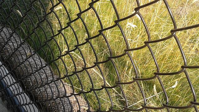 chain link fence angle