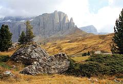 Auf dem Sella-Pass in den Dolomiten