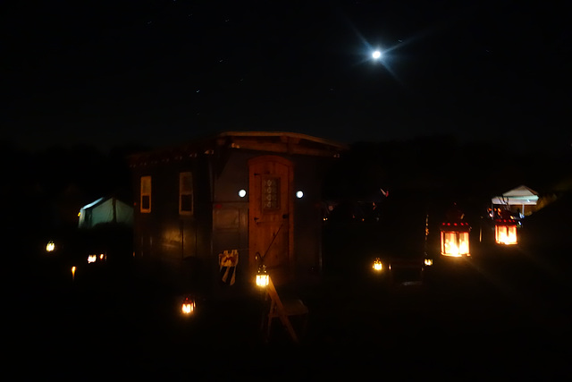Shepherd's Hut at Night